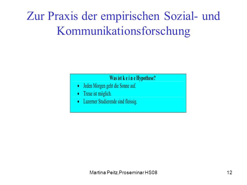 Martina Peitz,Proseminar HS0812 Zur Praxis der empirischen Sozial- und Kommunikationsforschung
