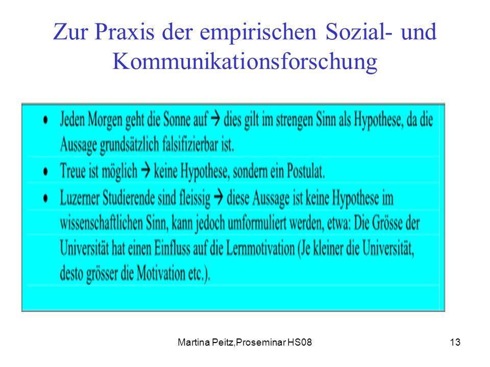 Martina Peitz,Proseminar HS0813 Zur Praxis der empirischen Sozial- und Kommunikationsforschung