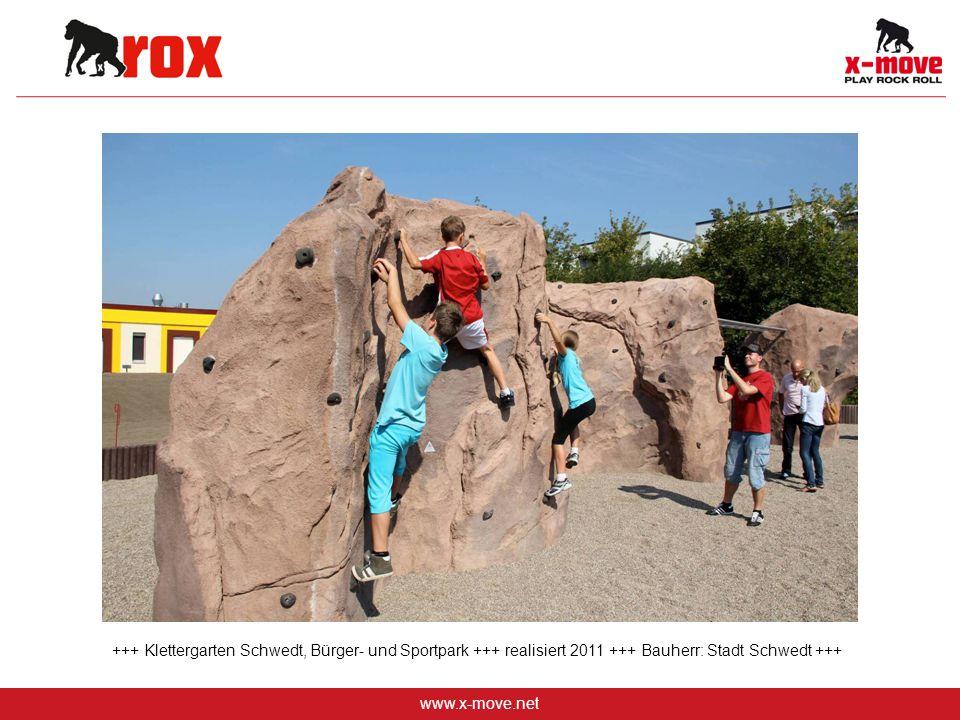 www.x-move.net +++ Klettergarten Schwedt, Bürger- und Sportpark +++ realisiert 2011 +++ Bauherr: Stadt Schwedt +++
