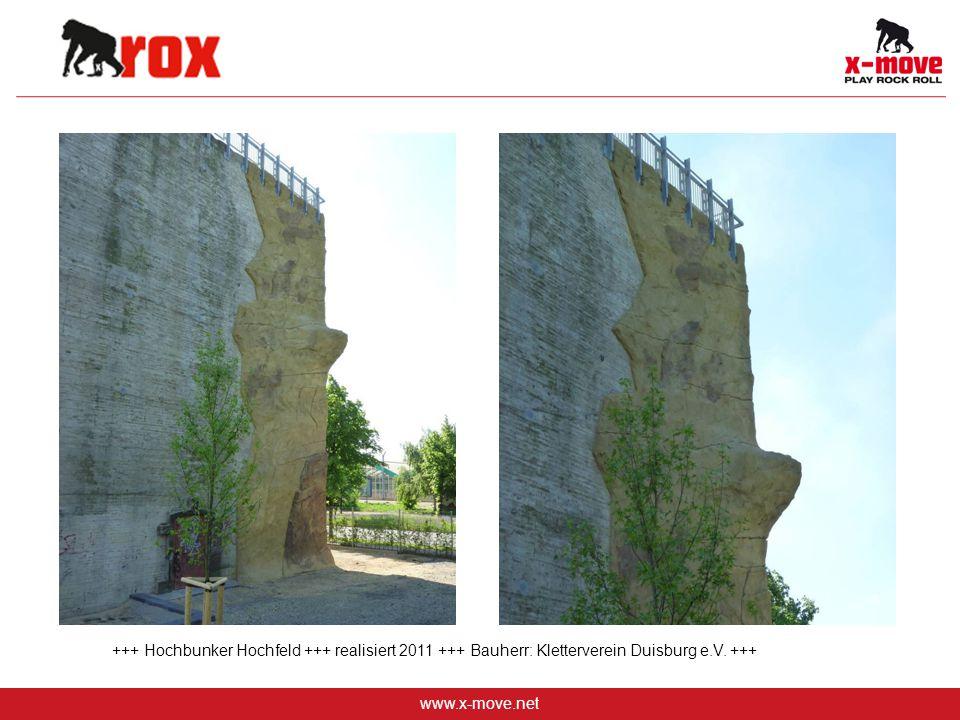 www.x-move.net +++ Hochbunker Hochfeld +++ realisiert 2011 +++ Bauherr: Kletterverein Duisburg e.V. +++