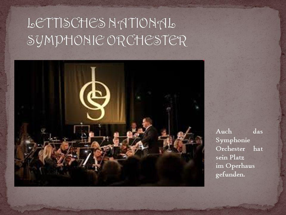 Auch das Symphonie Orchester hat sein Platz im Operhaus gefunden.