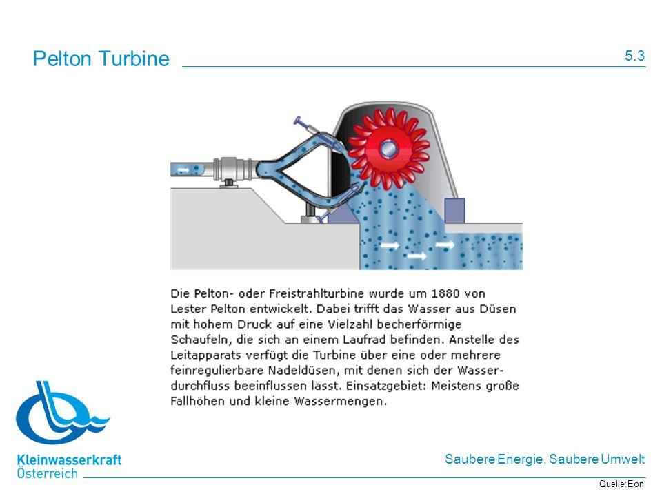 Saubere Energie, Saubere Umwelt Pelton Turbine Quelle:Eon 5.3