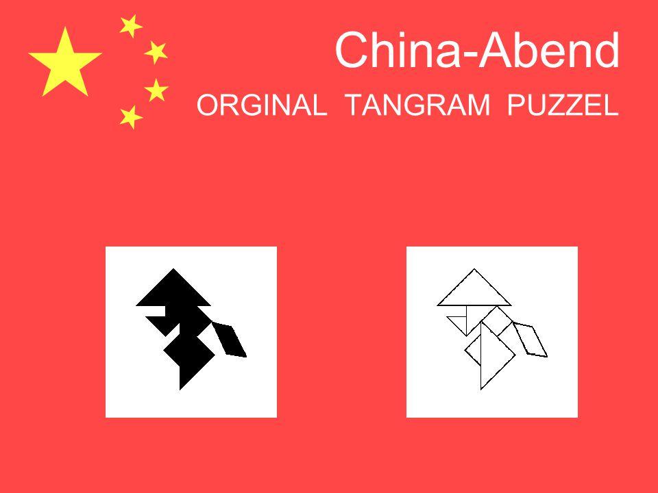 China-Abend ORGINAL TANGRAM PUZZEL