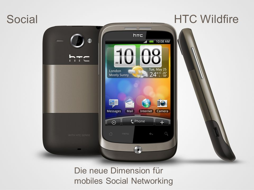 Das Social Media Phone HTC Wildfire Die neue Dimension für mobiles Social Networking Social