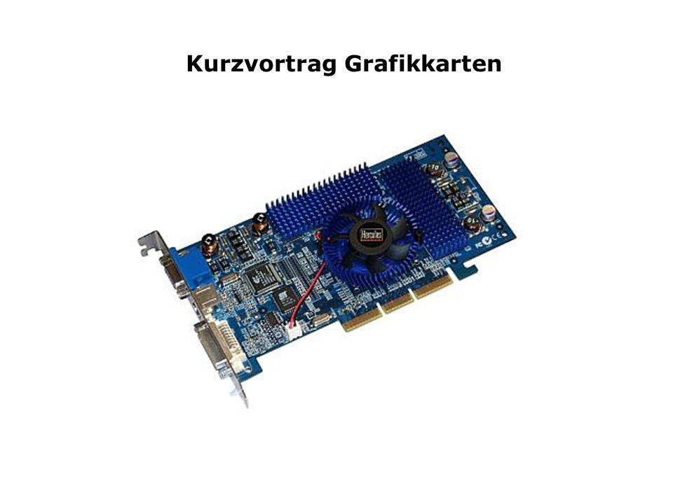 1.Aufgabe und Funktionsweise der Karten 2.Video -Bios /-Prozessor /-Ram 3.Der RAMDAC 4.Signal/Bildqualität 5.Digitale Grafikschnittstellen DVI 6.Leistungsmerkmale einer mod.