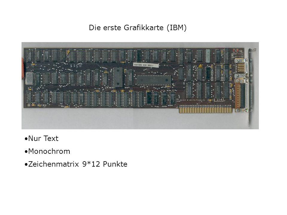 Die erste Grafikkarte (IBM) Nur Text Monochrom Zeichenmatrix 9*12 Punkte