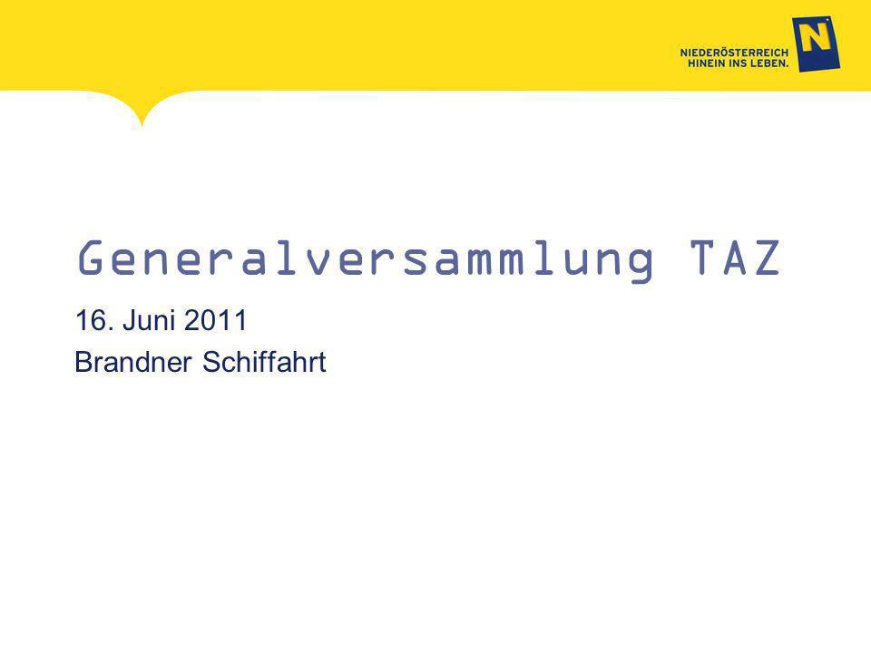 Generalversammlung TAZ 16. Juni 2011 Brandner Schiffahrt
