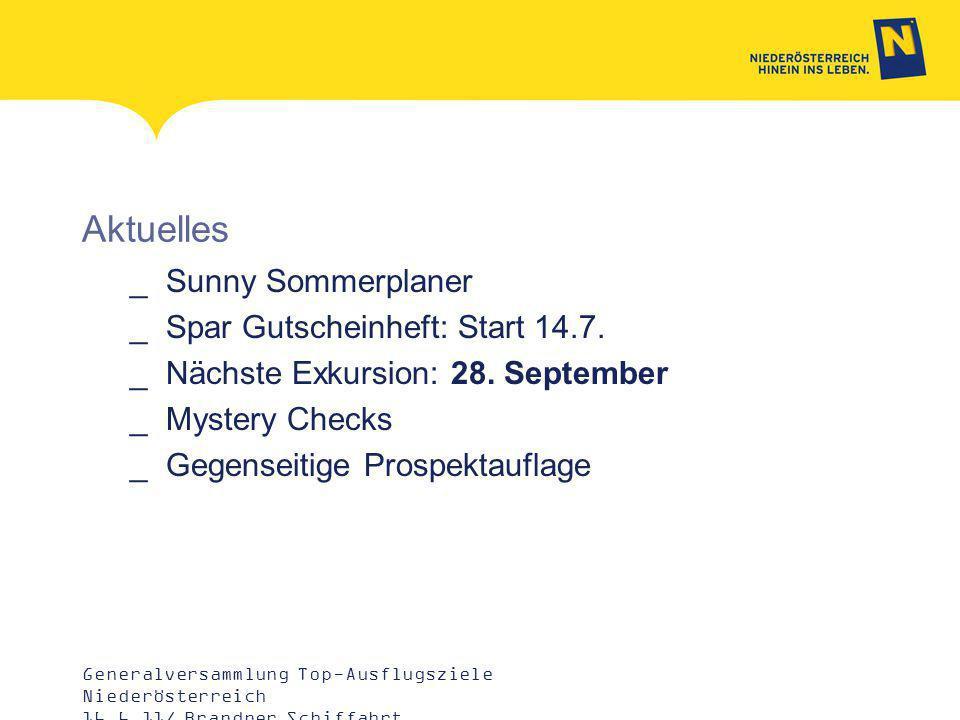 Aktuelles _Sunny Sommerplaner _Spar Gutscheinheft: Start 14.7.