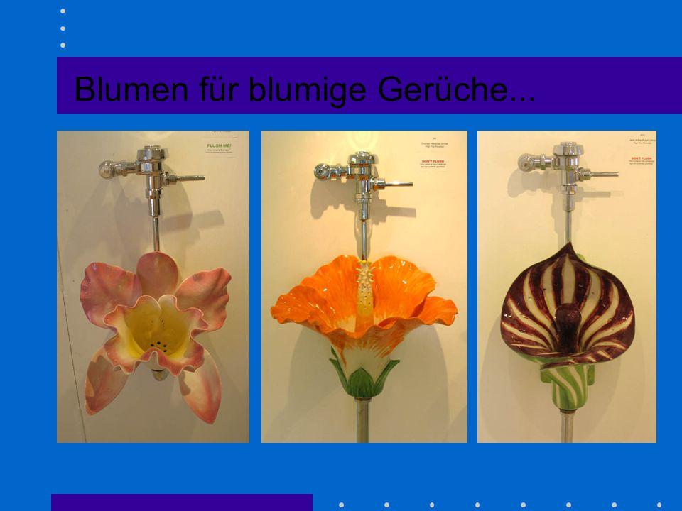 Blumen für blumige Gerüche...
