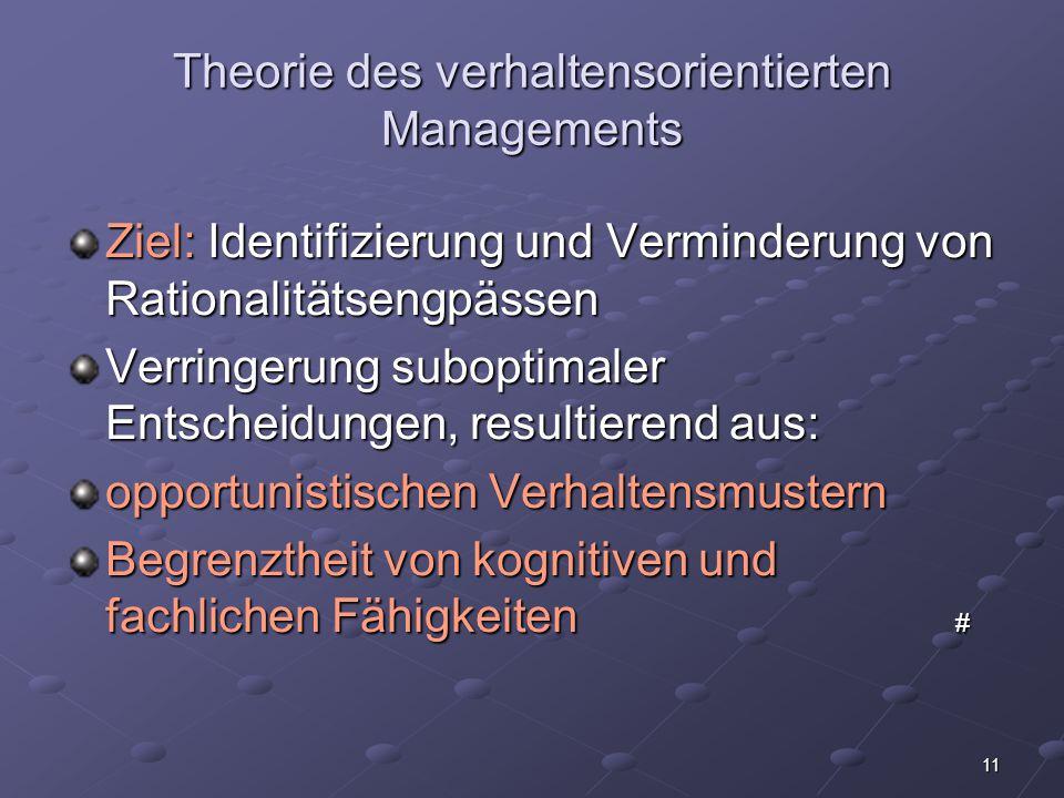 12 Fazit: Manager und Controller müssen sich in Zukunft neben den rechnerischen Fähigkeiten dringend auch psychologische Grundkenntnisse aneignen!