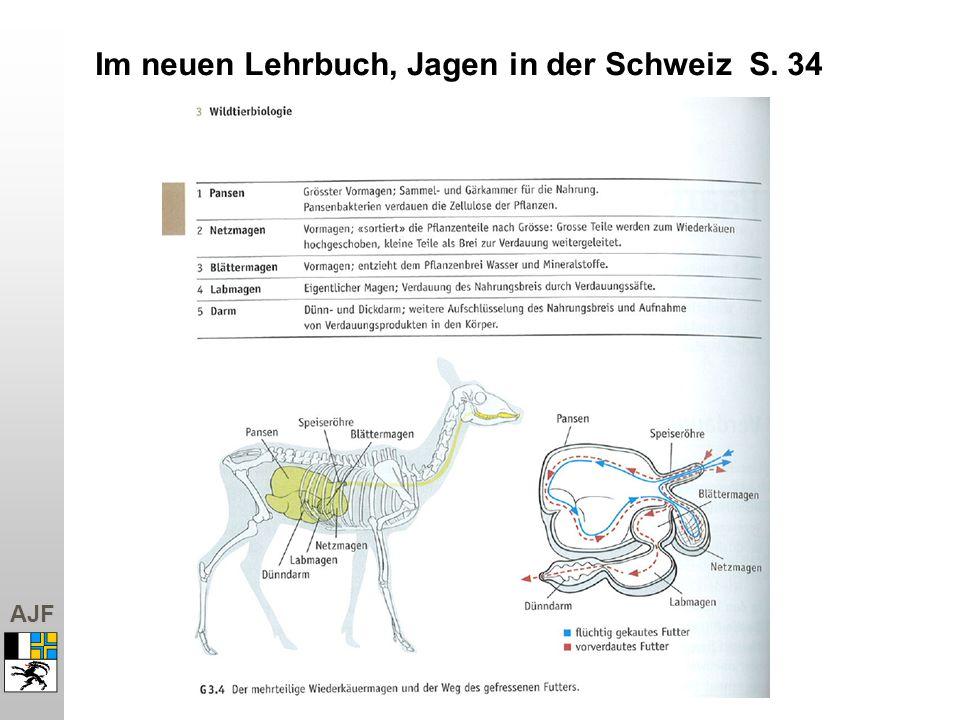 AJF Im neuen Lehrbuch, Jagen in der Schweiz S. 34