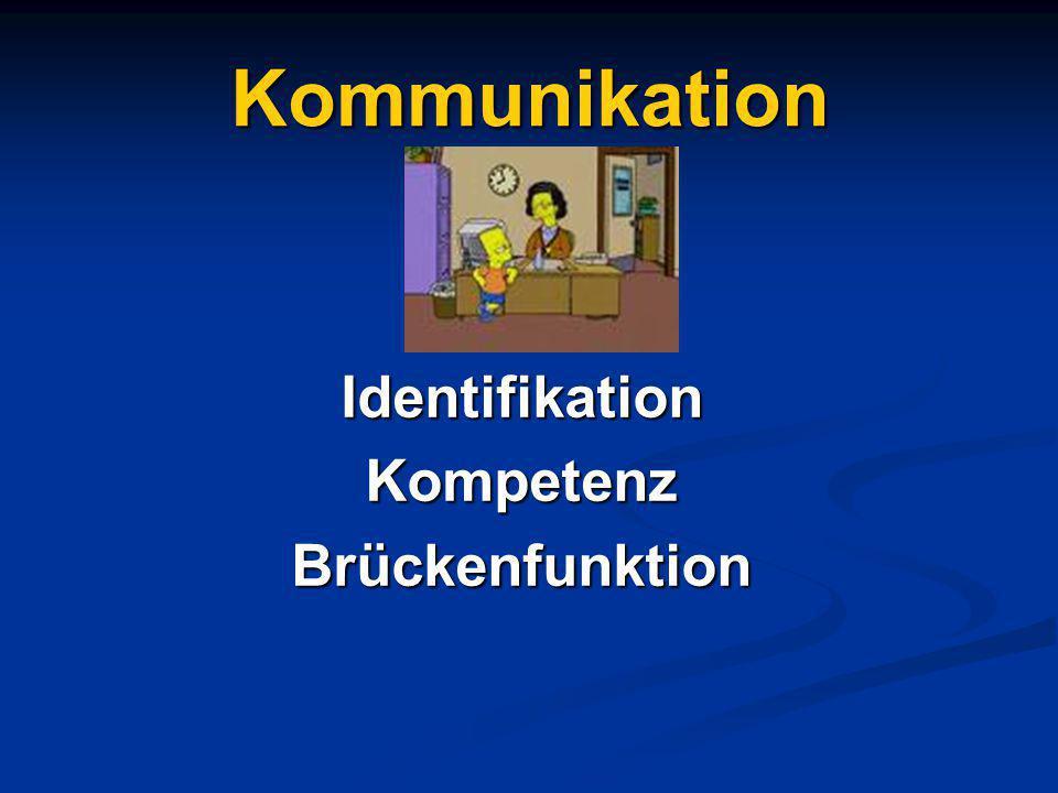 Kommunikation IdentifikationKompetenzBrückenfunktion