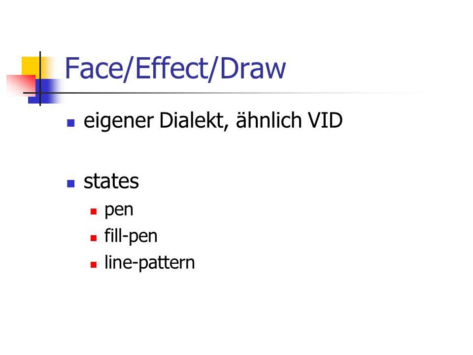 Face/Effect/Draw eigener Dialekt, ähnlich VID states pen fill-pen line-pattern