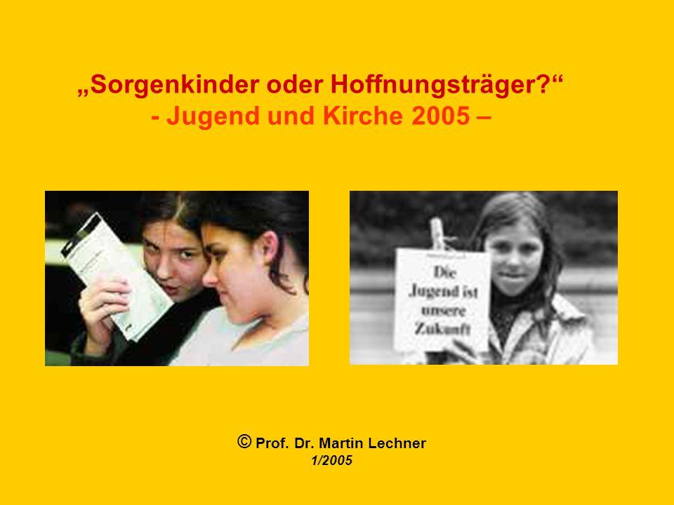 Jugend und Kirche Quelle: Trierer Studie 2000