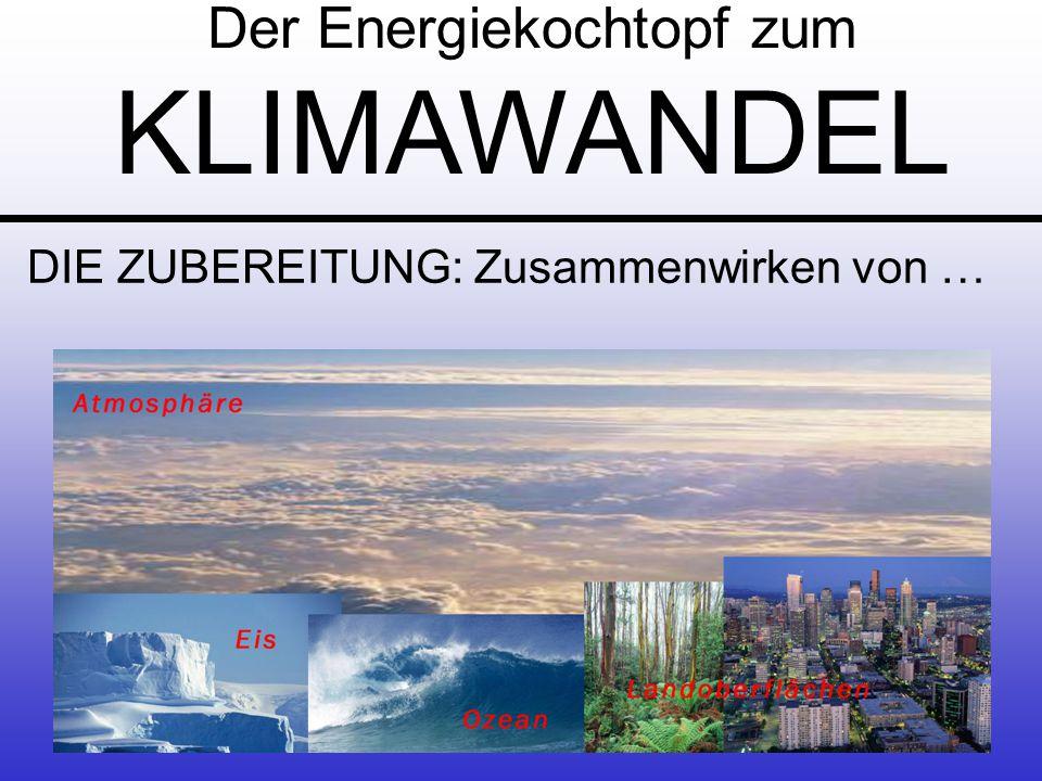 DAS MENU: Klimavariabilität - Klimawandel GlobalRegionalLokal Der Energiekochtopf zum KLIMAWANDEL