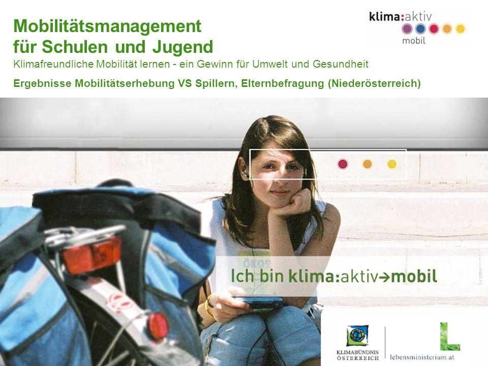 Programmmanagement KLIMABÜNDNIS–HERRY–FORUM Umweltbildung www.klimaaktivmobil.at Mobilitätsmanagement für Schulen und Jugend Klimafreundliche Mobilitä