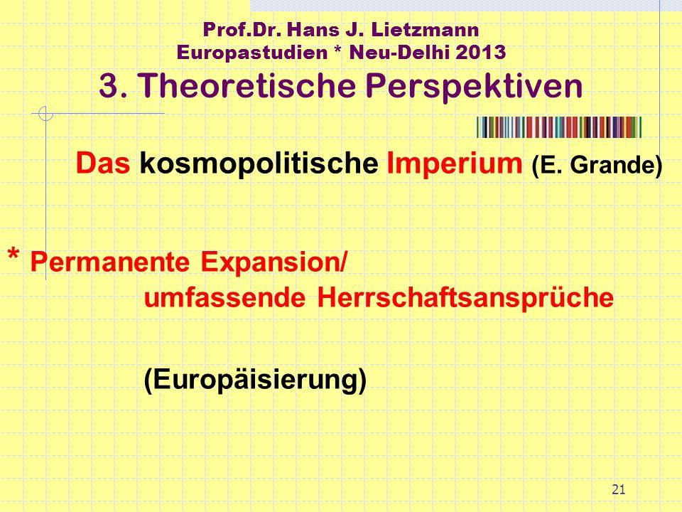 21 Prof.Dr. Hans J. Lietzmann Europastudien * Neu-Delhi 2013 3.