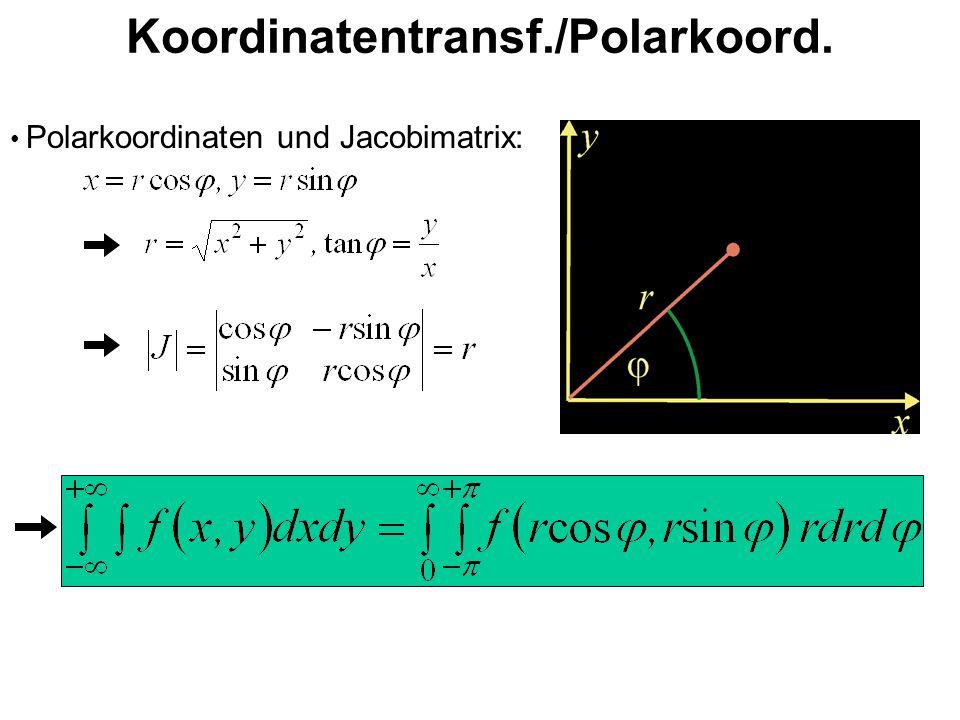 Koordinatentransf./Polarkoord. Polarkoordinaten und Jacobimatrix: