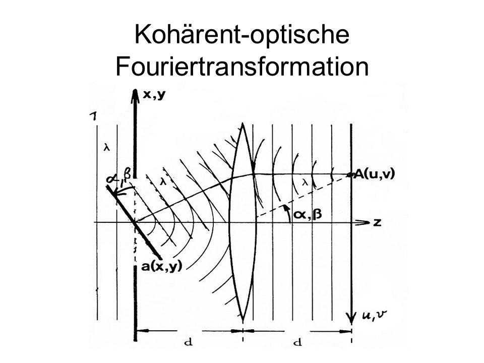 Kohärent-optische Fouriertransformation