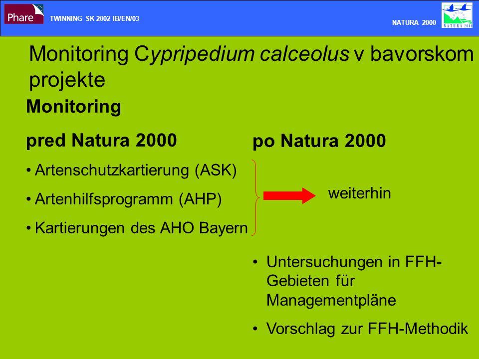 Monitoring Cypripedium calceolus v bavorskom projekte Monitoring pred Natura 2000 Artenschutzkartierung (ASK) Artenhilfsprogramm (AHP) Kartierungen de