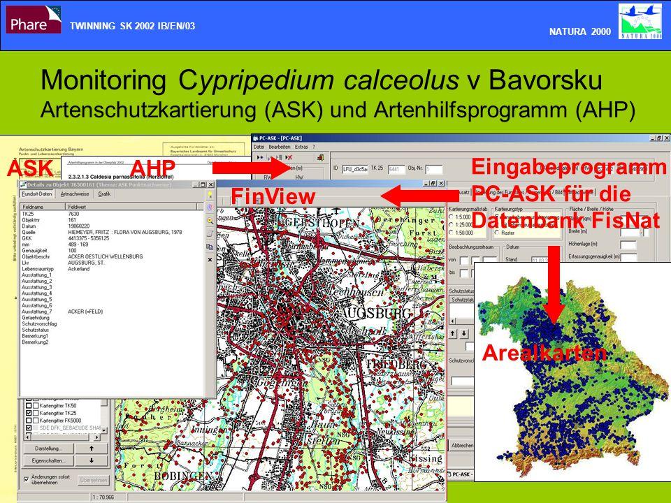 Monitoring Cypripedium calceolus v Bavorsku Artenschutzkartierung (ASK) und Artenhilfsprogramm (AHP) TWINNING SK 2002 IB/EN/03 NATURA 2000 ASKAHP Eing
