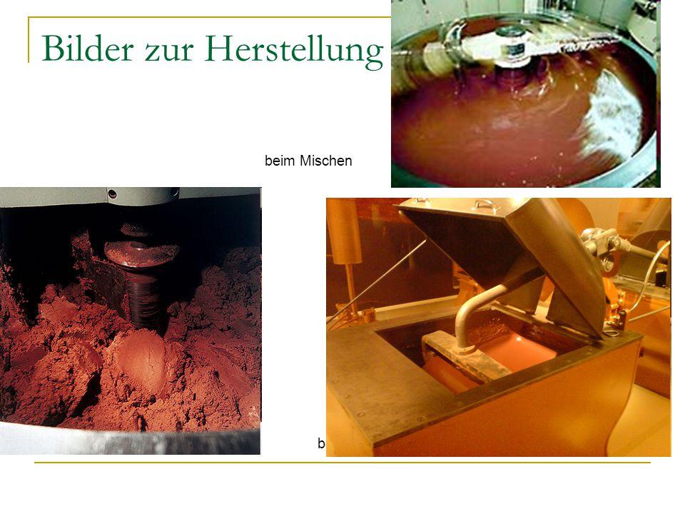 Bilder zur Herstellung beim Mischen in der Presse beim Conchieren