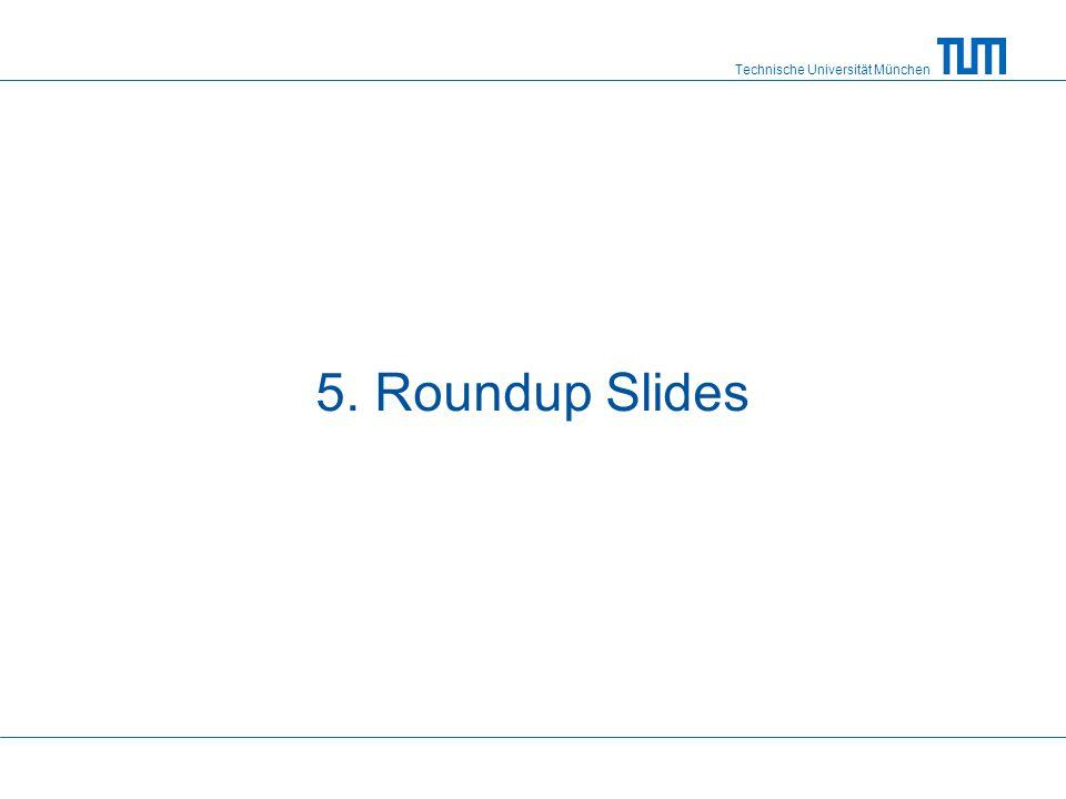 Technische Universität München 5. Roundup Slides