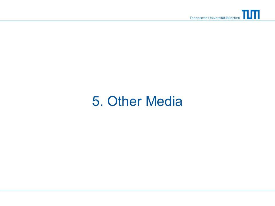 Technische Universität München 5. Other Media