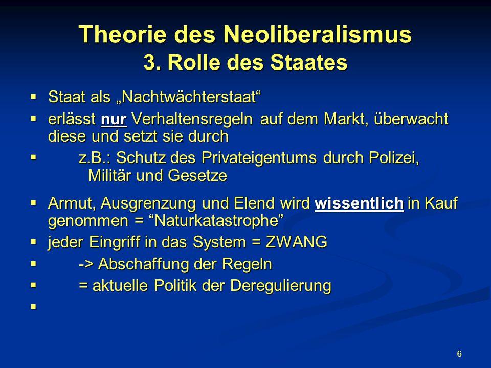 7 Theorie des Neoliberalismus 4.Markt vs.