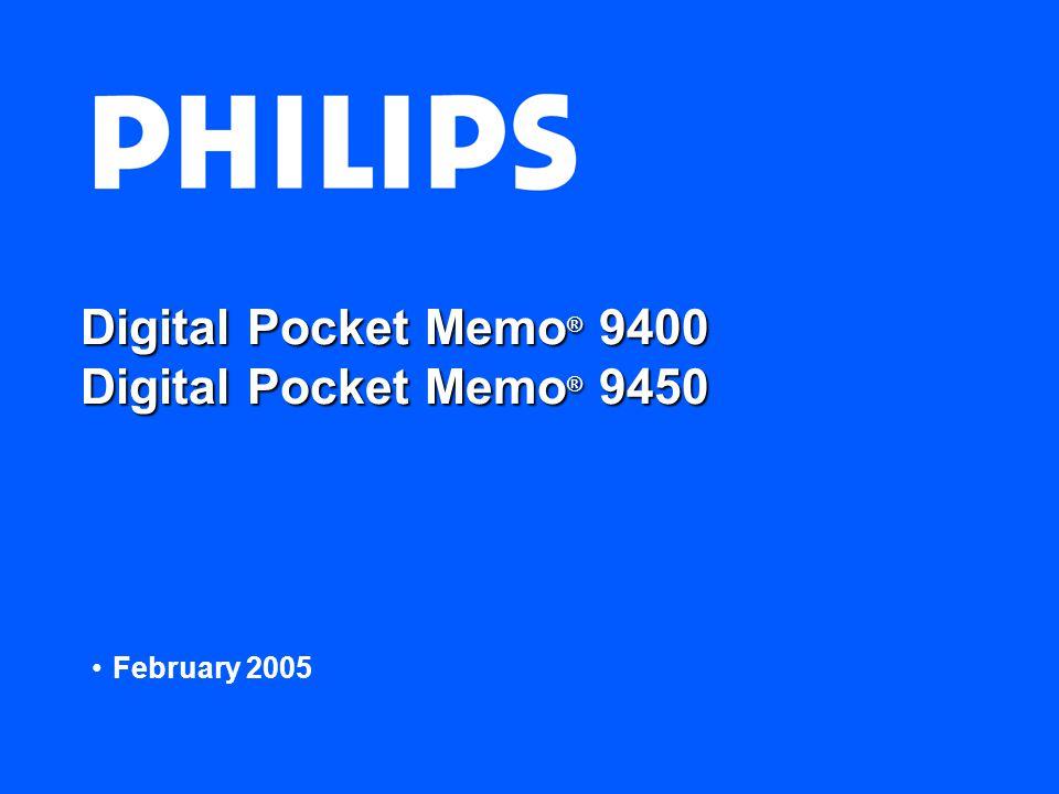 Digital Pocket Memo ® 9400 Digital Pocket Memo ® 9450 February 2005