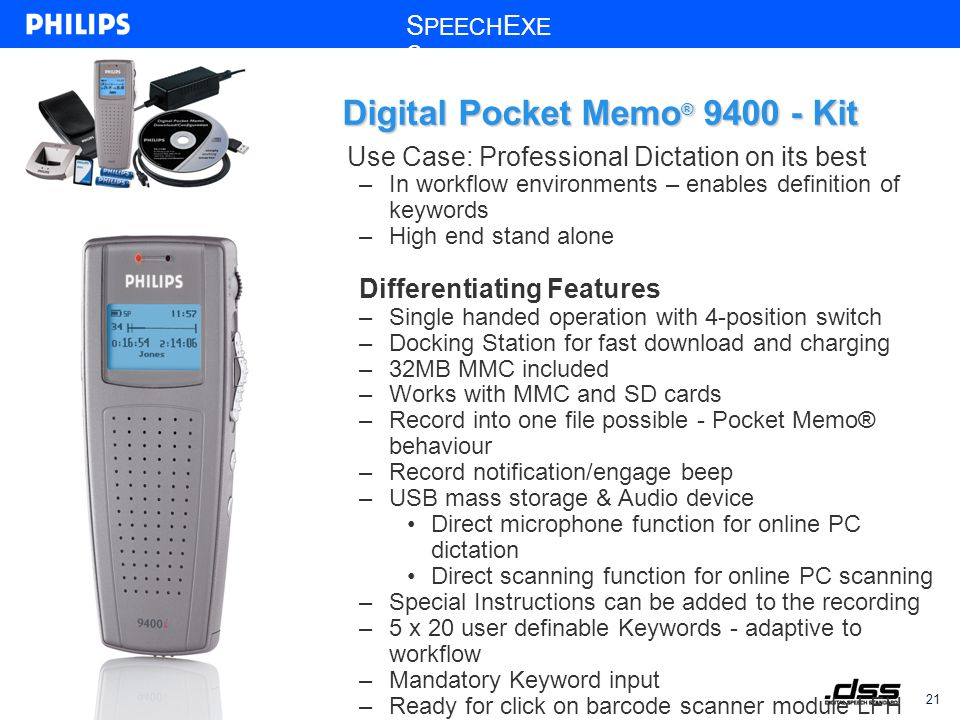 Digital Pocket Memo ® 9400 Digital Pocket Memo ® 9450 February 2005