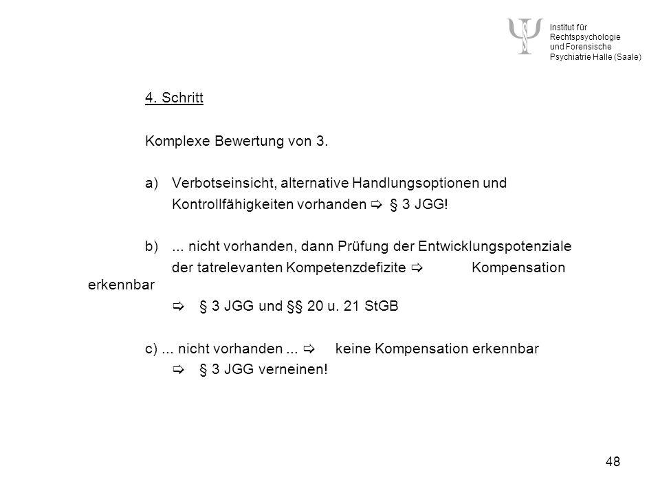Institut für Rechtspsychologie und Forensische Psychiatrie Halle (Saale) 48 4.