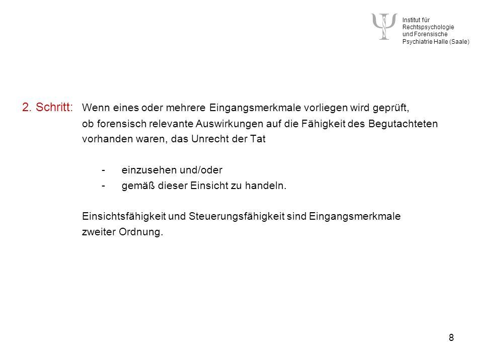 Institut für Rechtspsychologie und Forensische Psychiatrie Halle (Saale) 8 2.