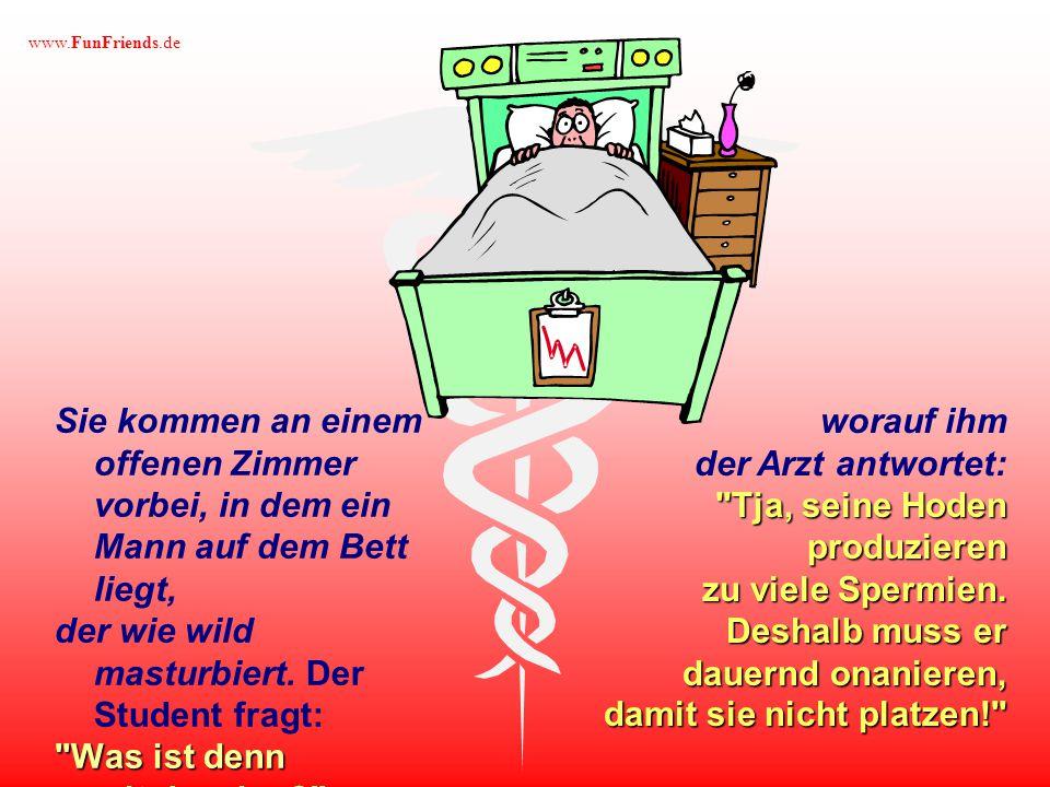 www.FunFriends.de Privat versichert Ein junger Medizinstudent macht mit dem betreuenden Arzt einen ersten Rundgang durchs Krankenhaus.