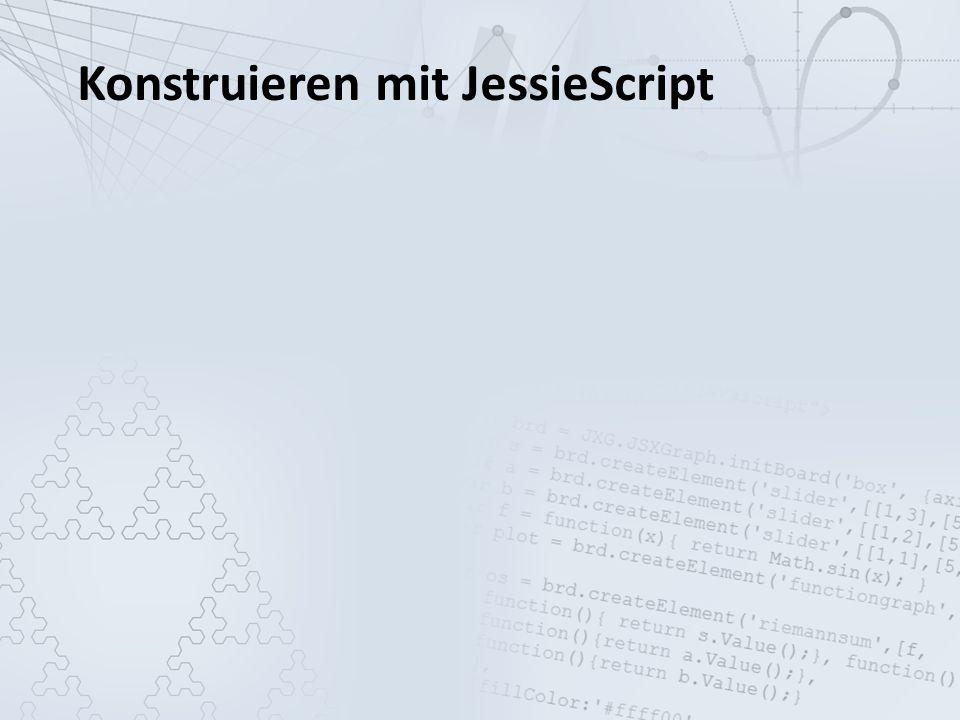 Die Programmierung mit JavaScript, um mit JSXGraph Geometrie am Rechner anzeigen zu können, stellt eine große Hürde dar.