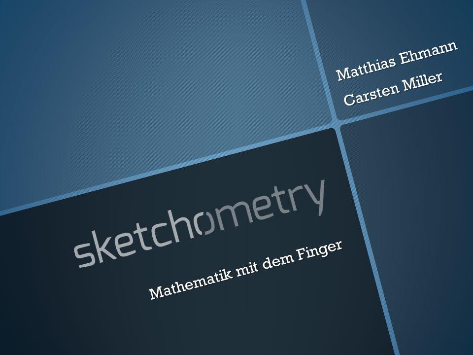 Mathematik mit dem Finger Beispiel Achsensymmetrie Direkte Konstruktion Direkte Konstruktion Gesten als fertige Werkzeuge Gesten als fertige Werkzeuge Entdecken geometrischer Zusammenhänge Entdecken geometrischer Zusammenhänge
