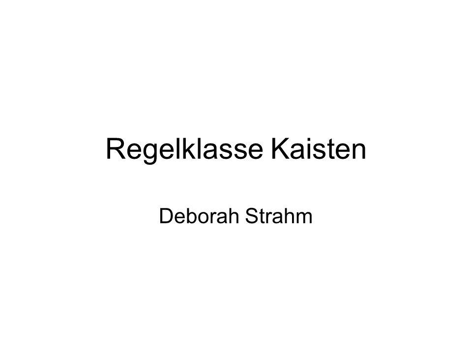 Regelklasse Kaisten Deborah Strahm