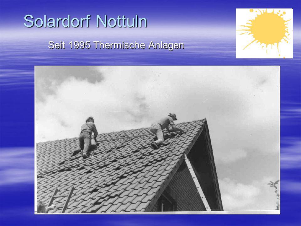 Solardorf Nottuln Seit 1995 Thermische Anlagen