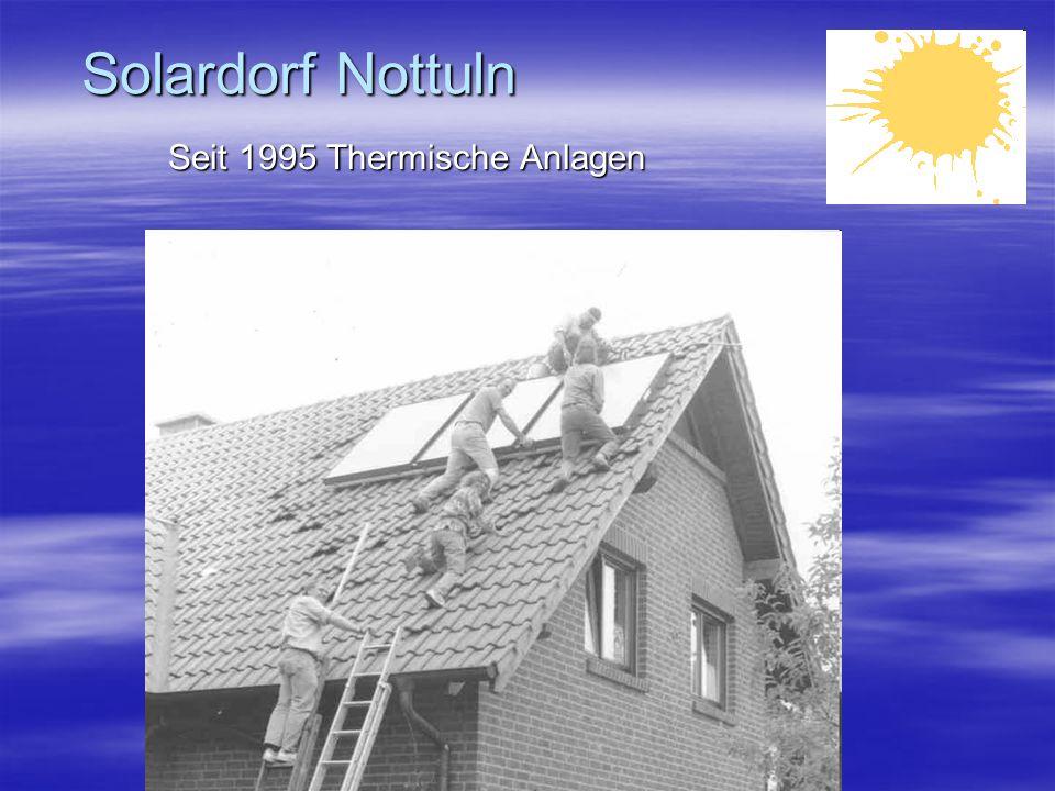 Solardorf Nottuln Seit 1995 Thermische Anlagen Kooperation mit Phönix – Einkaufsgemeinschaft