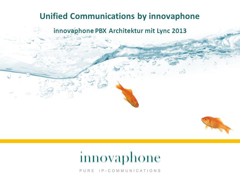 Unified Communications by innovaphone innovaphone PBX Architektur mit Lync 2013