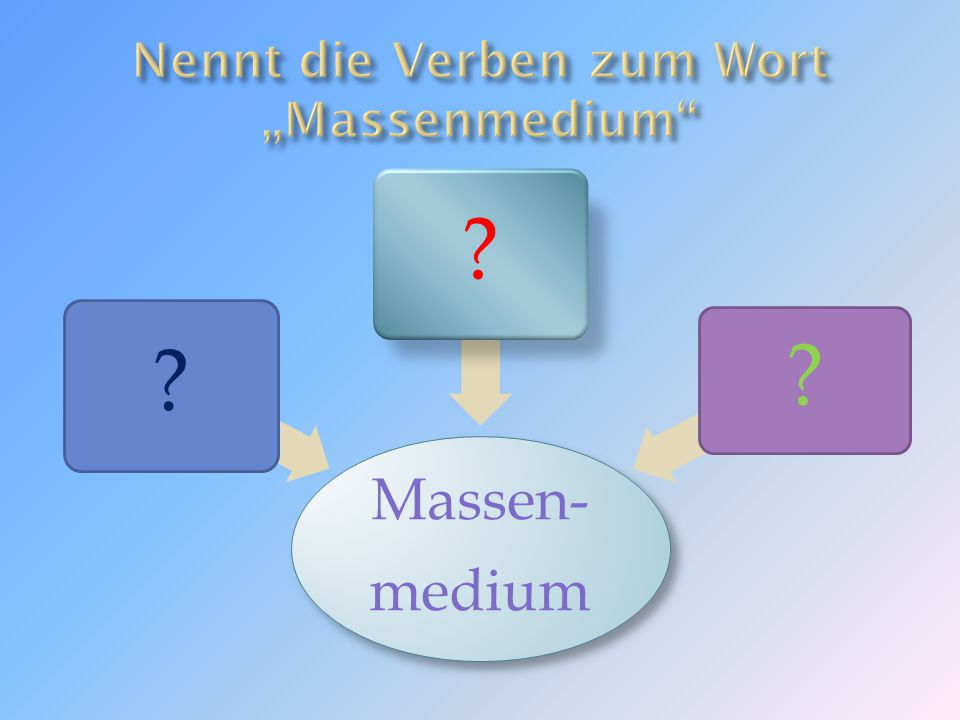 Massen- medium ?? ?