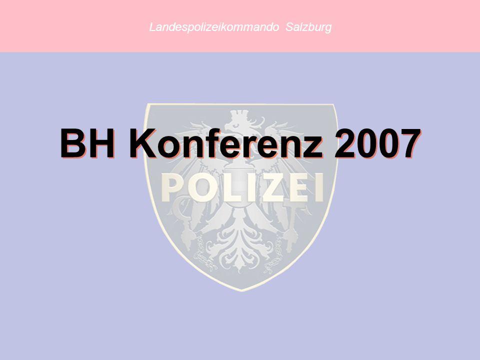 Landespolizeikommando Salzburg BH Konferenz 2007