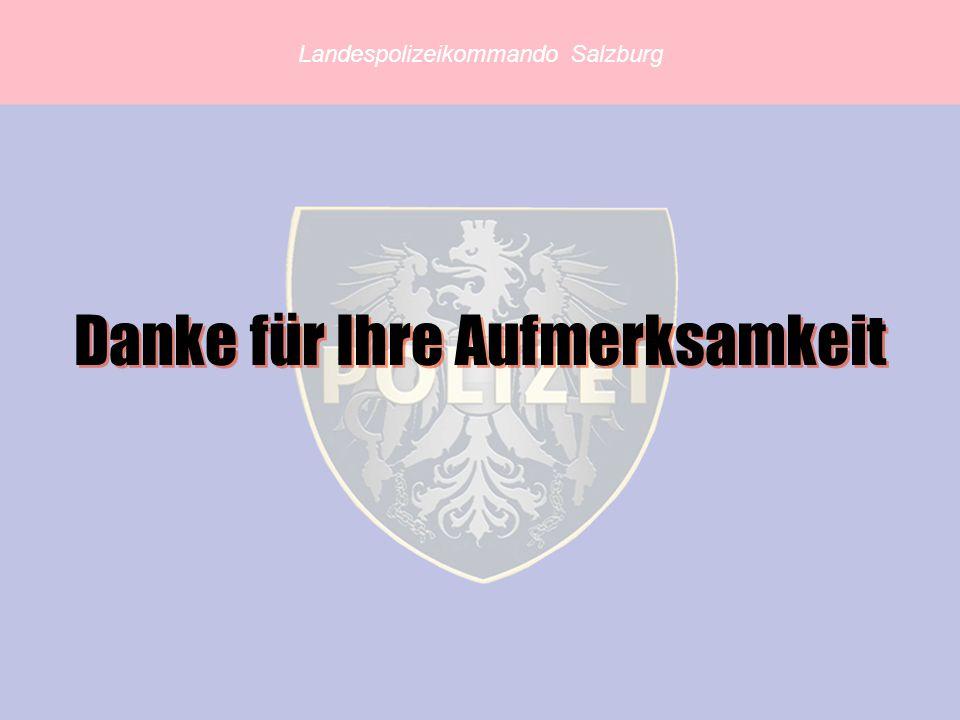 Landespolizeikommando Salzburg Danke für Ihre Aufmerksamkeit