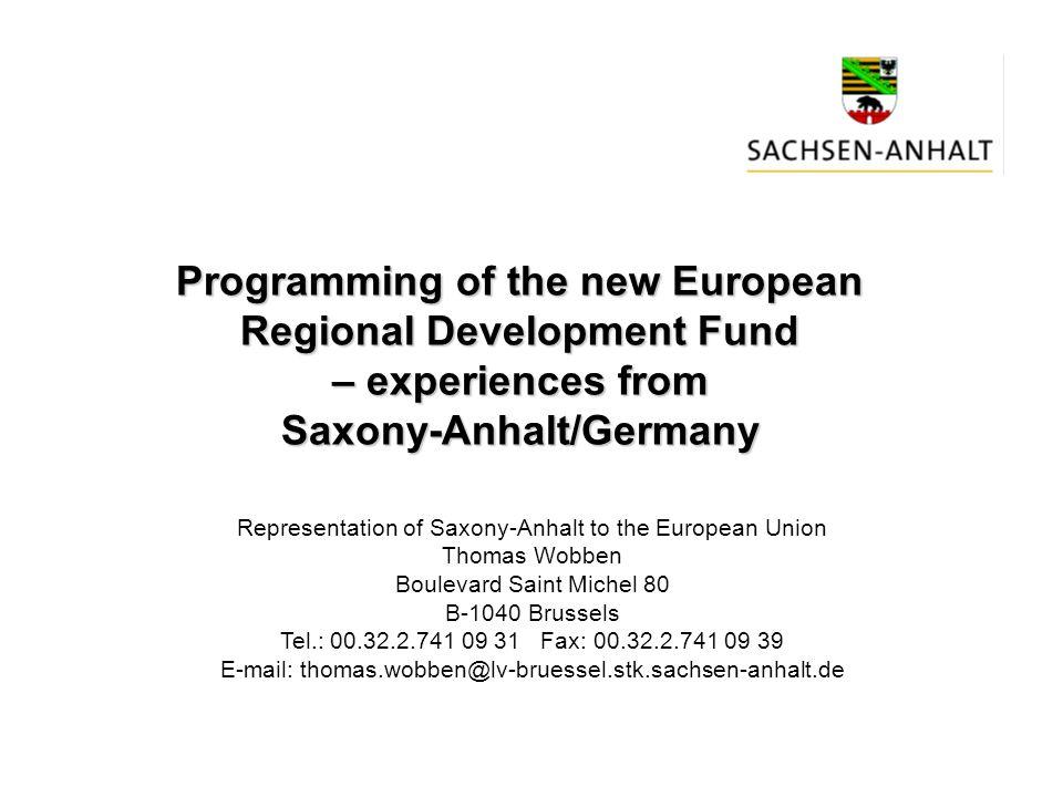 Reduction of Production Gap from 77% in 1991 to 29% in 2002 Convergence Progress in Saxony-Anhalt Quelle: Staatskanzlei Sachsen-Anhalt