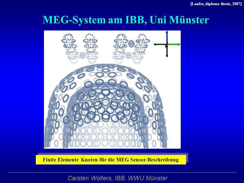 Carsten Wolters, IBB, WWU Münster MEG-System am IBB, Uni Münster Finite Elemente Knoten für die MEG Sensor-Beschreibung [Lanfer, diploma thesis, 2007]