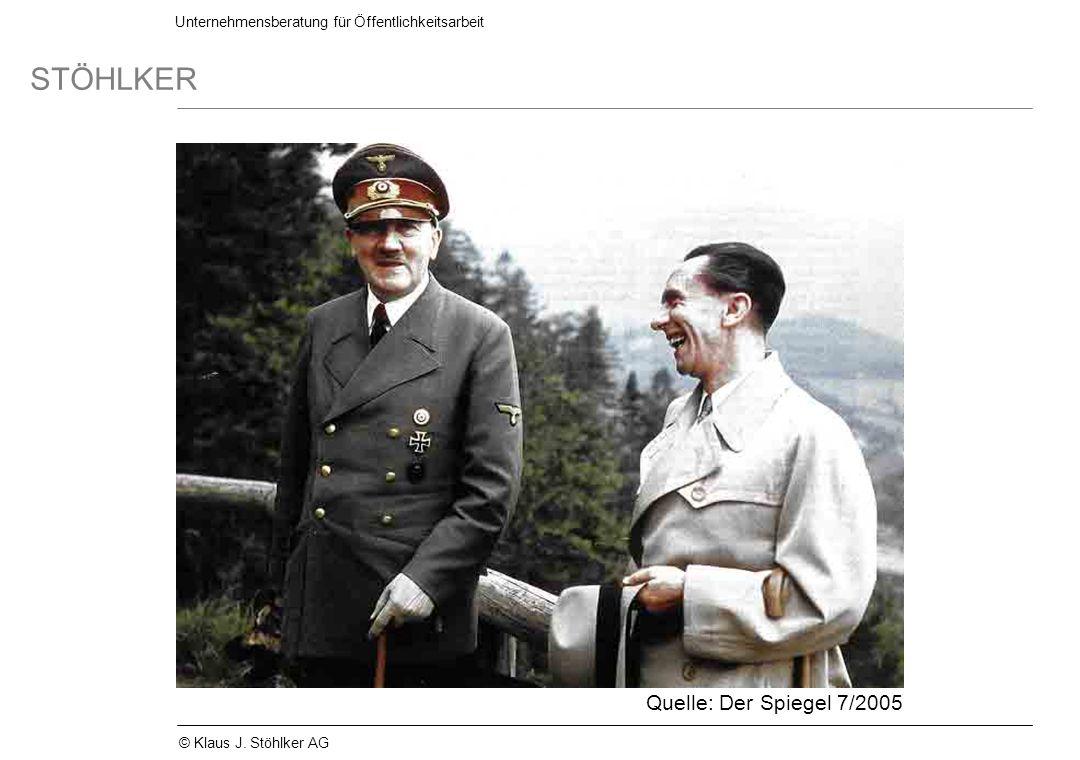 Unternehmensberatung für Öffentlichkeitsarbeit STÖHLKER © Klaus J. Stöhlker AG