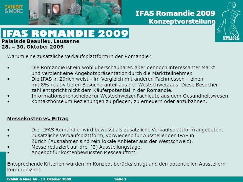 Reed Messen (Schweiz) AG · April 2004Reed Messen (Schweiz) AG · April 2006 Seite 3 Warum eine zusätzliche Verkaufsplattform in der Romandie? Die Roman