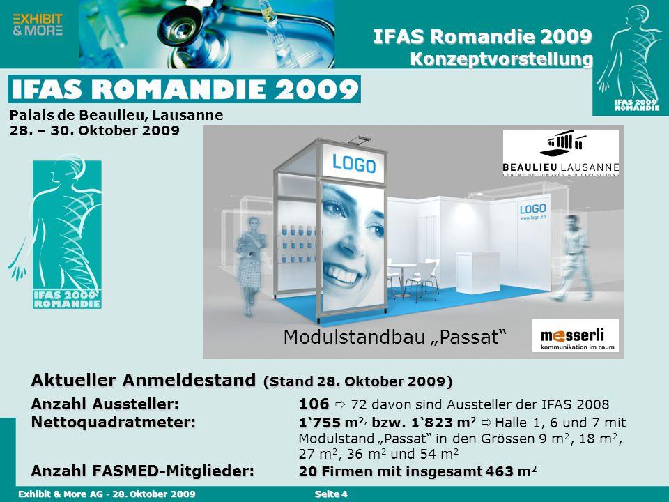 Reed Messen (Schweiz) AG · April 2004 Seite 4 Aktueller Anmeldestand (Stand 28. Oktober 2009) Anzahl Aussteller:106 Anzahl Aussteller:106 72 davon sin