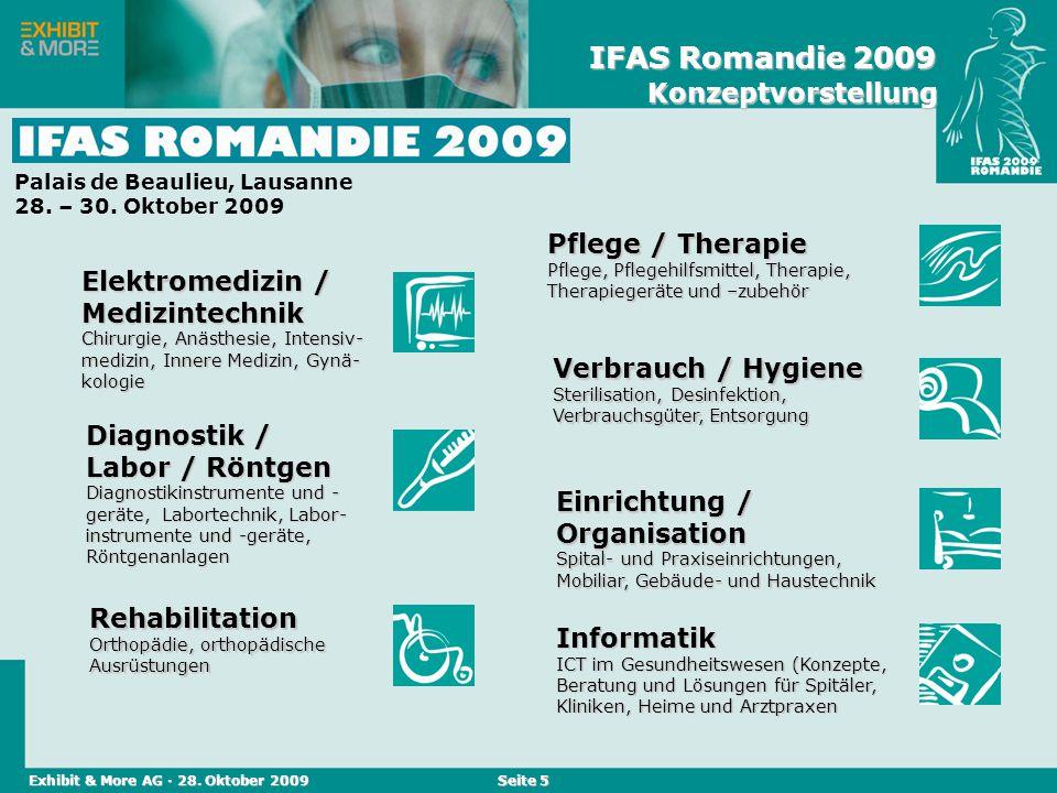 Reed Messen (Schweiz) AG · April 2004 Seite 5 Einrichtung / Organisation Spital- und Praxiseinrichtungen, Mobiliar, Gebäude- und Haustechnik Elektrome
