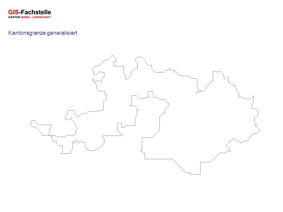 Kantonsgrenze generalisiert